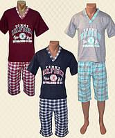 Костюм мужской Домашний: футболка + бриджи накат кулир