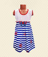 Платье детское Морячка кулир