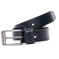 Ремень мужской кожаный классический черный