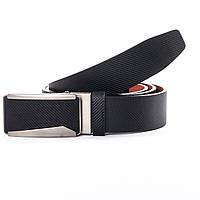 Ремень мужской кожаный брючный с пряжкой автомат ширина 3,5 см
