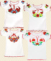 Вышиванка для девочки Маричка короткий рукав интерлок