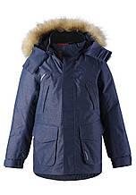 Зимняя куртка - пуховик для мальчика Reimatec Ugra 531404-6980. Размеры 104 - 164.