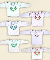 Вышиванка для девочек двойной рукав интерлок