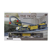 Железная дорога 4117  105-39-в19см, локомотив, звук, муз, вагон 2шт, на бат-ке, в кор-ке, 50-31-9см