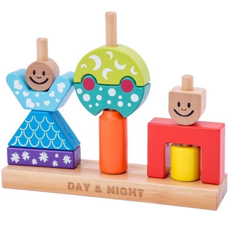 Деревянная развивающая игра День и Ночь