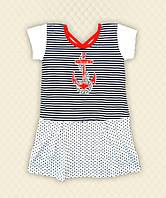 Платье Морячка вышивка кулир
