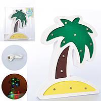 Деревянная игрушка Ночник MD 2245  пальма, Bambi