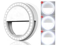 Кольцевая лампа для телефона, селфи кольцо на батарейках