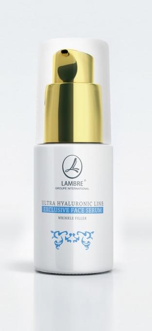 """сыворотка для разглаживания морщин """"Ultra Hyaluronik Exclusive Face Serum"""" Ламбре / Lambre"""