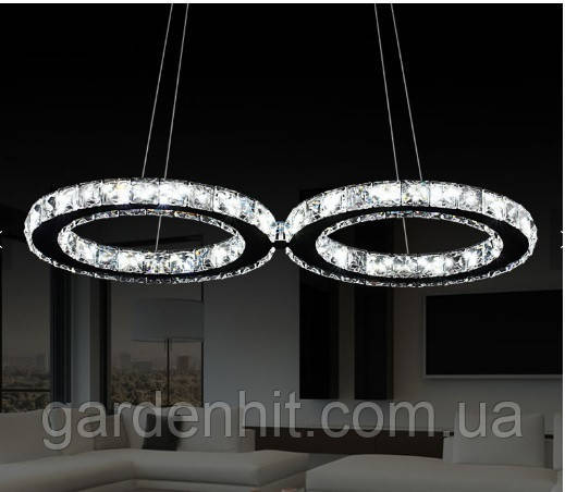 Люстра кришталева LED Crystal RING HIT