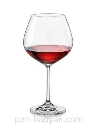 Набір келихів для вина Bohemia Viola 6 штук 570мл d7,5 см h21 см богемське скло (40729/570)