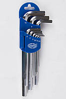 Набор шестигранников угловых длинных 9пр. 1,5-10 мм LICOTA (2HW20091DPM)