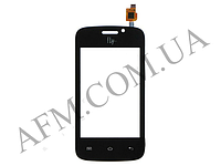 Сенсор (Touch screen) Fly iQ239 Era Nano 2, черный, c отверствиям на фронтальную камеру