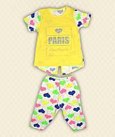Комплект для девочек Париж накат стрейч-кулир