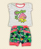 Костюм для девочки: футболка + шорты фуликра