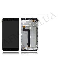 Дисплей (LCD) Xiaomi Mi Max 2 с сенсором чёрный + рамка