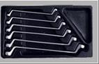 Ключи накидные, набор (8-19мм) 6 шт. в ложементе AmPro
