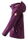Демисезонная куртка-ветровка для девочки Reima Softshell Vandra 531414-4960. Размеры 104 - 152., фото 3
