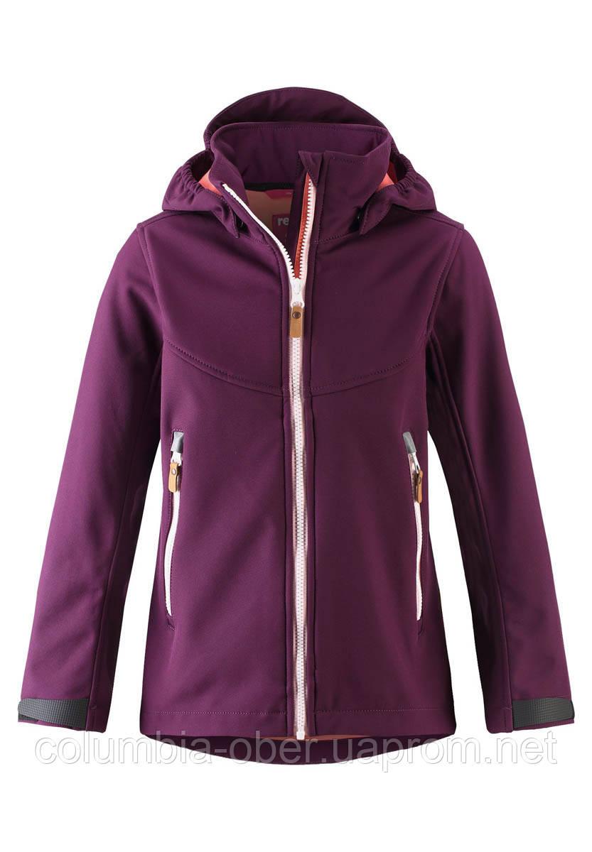 Демисезонная куртка-ветровка для девочки Reima Softshell Vandra 531414-4960. Размеры 104 - 152.