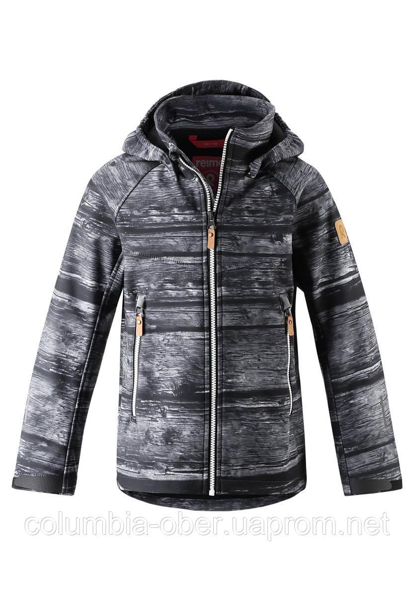 Демисезонная куртка для мальчика Reima Softshell Vild 531415-9788. Размеры 104 - 164.