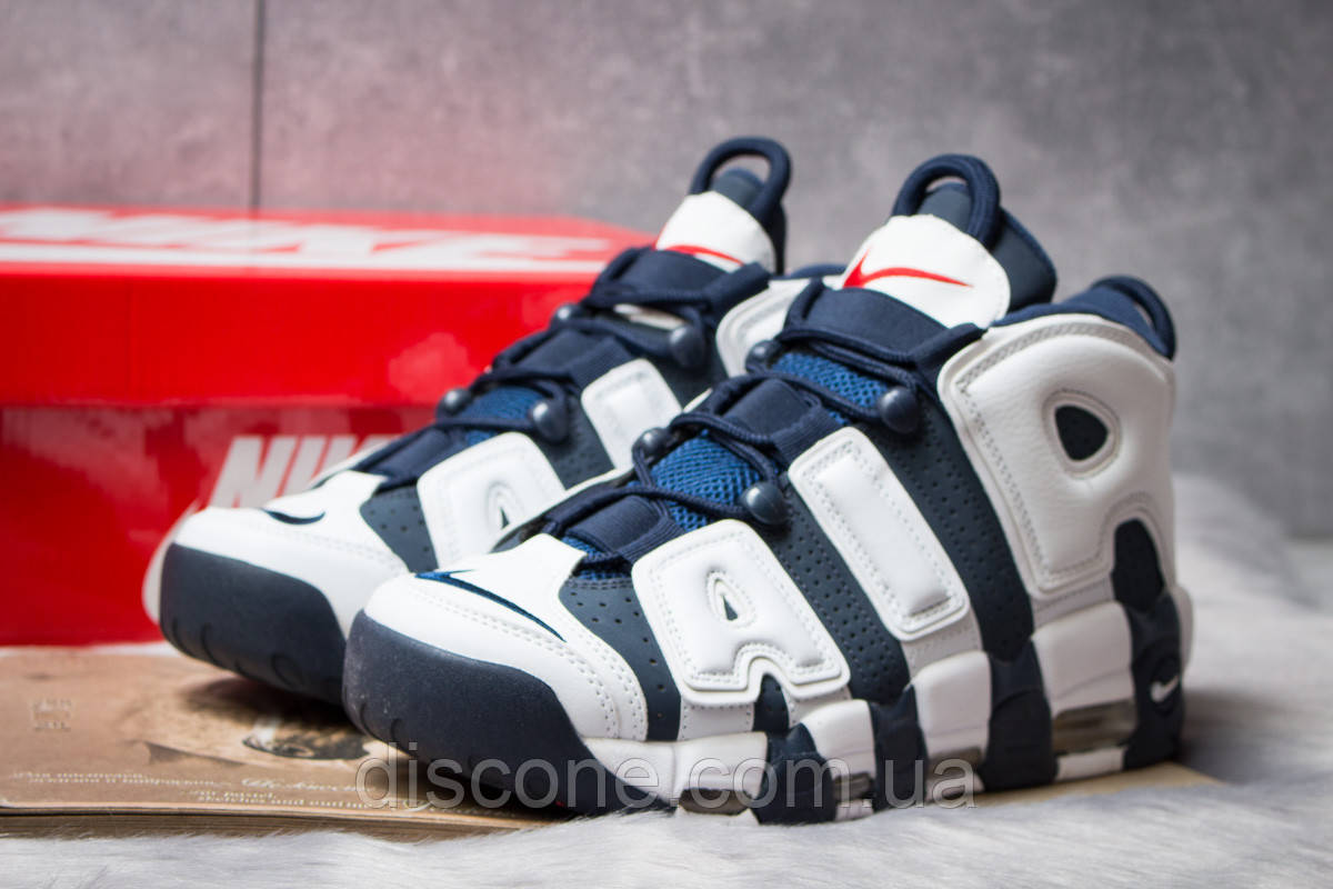 Кроссовки мужские 14824 ► Nike More Uptempo, темно-синие ✅SALE! 37% [ 44 ] ► (44-28,1см)