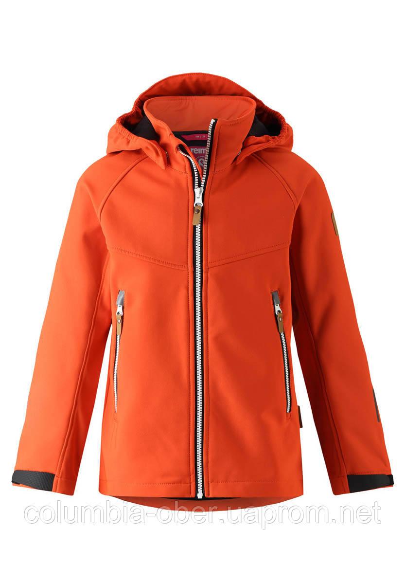 Демисезонная куртка для мальчика Reima Softshell Vild 531415-2770. Размеры 104 - 164.