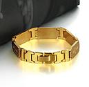 Браслет Мужской Золото с крестиком, фото 2