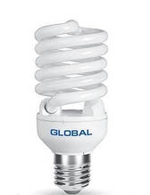 GFL-002-1 - T2 Full Spiral 30W, 4100K, E27 NFSC GLF Энергосберегающие лампы GLOBAL (Глобал)