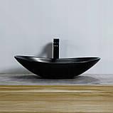 Умывальник REA ROYAL 61cm черный МАТ, фото 4