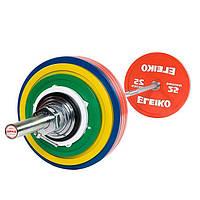 Штанга Eleiko для пауэрлифтинга тренировочная в сборе 435 кг 3002314