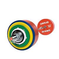 Штанга Eleiko в сборе для соревнований по пауэрлифтингу 435 кг цветная 3001364