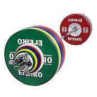 Олимпийская тренировочная штанга Eleiko в сборе 190 кг цветная мужская 3001238