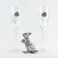Набор 2 бокала шамп и Фигура крысы
