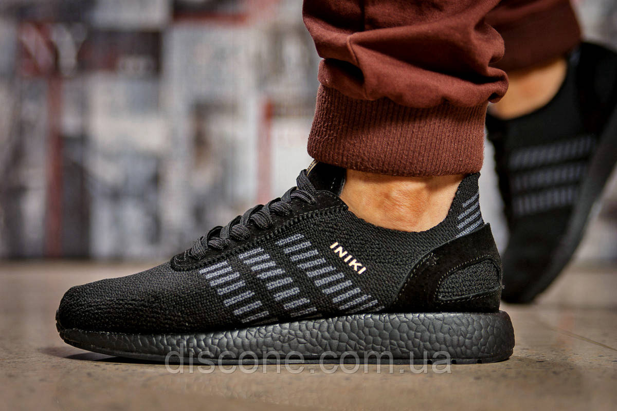 Кроссовки мужские 15335 ► Adidas Iniki, черные ✅SALE! 27% [ 44 ] ► (44-28,0см)