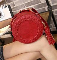 Женская сумка круглая Polly red