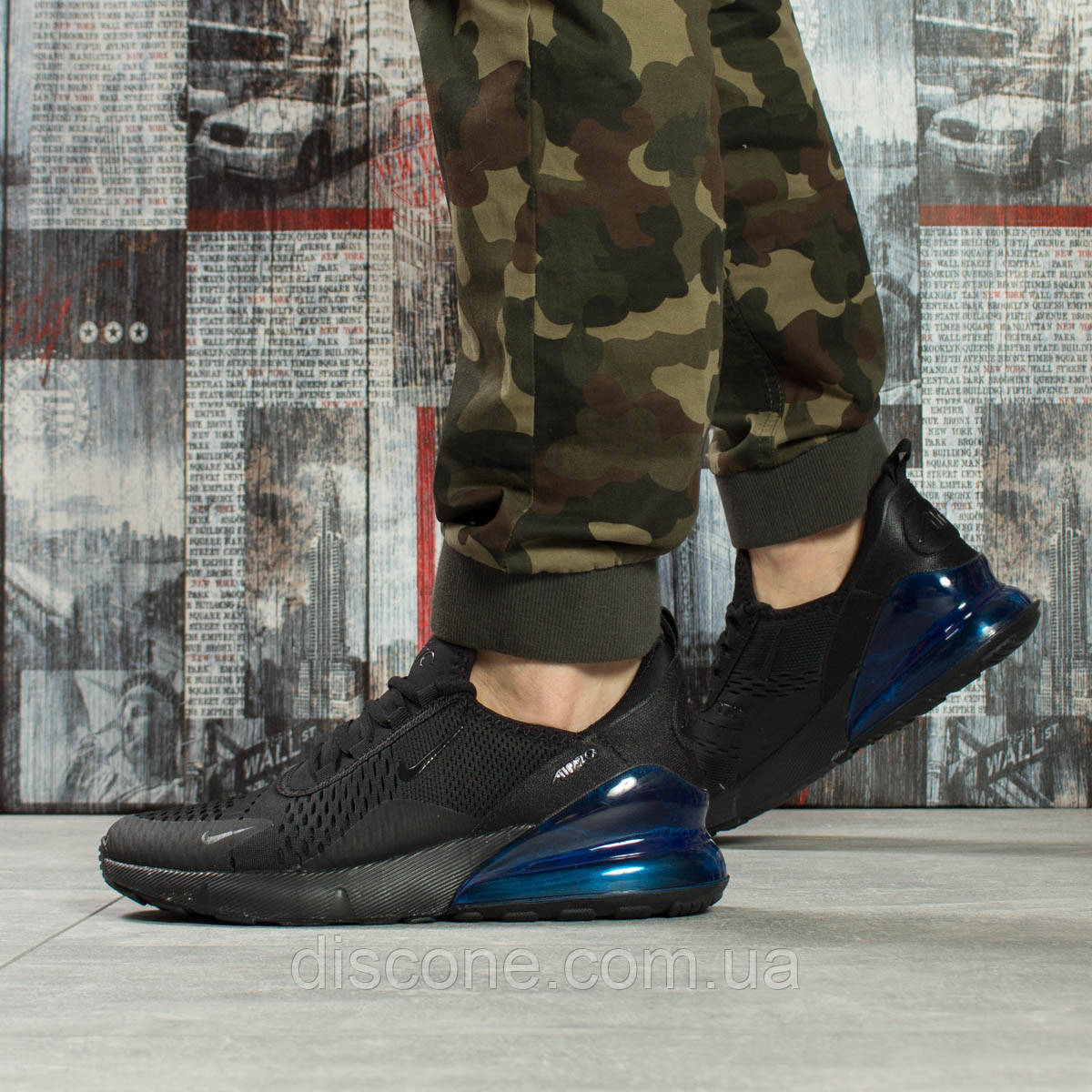 Кроссовки мужские 16065 ► Nike Air 270, черные ✅Скидка 28% [ 41 43 46 ] ► (41-25,0см)