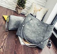 Женская сумка-шоппер с кошельком Luna gray