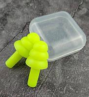 Беруши многоразовые в упаковке EarSilence light green