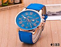 Женские кварцевые наручные часы / годинник Geneva Platinum синего цвета (123)