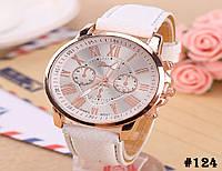 Женские кварцевые наручные часы / годинник Geneva Platinum белого цвета (124)
