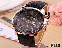 Женские кварцевые наручные часы / годинник Geneva Platinum чёрного цвета (125)