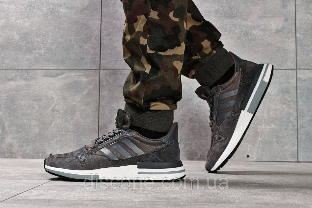 Кроссовки мужские 16181 ► Adidas, темно-серые ✅Скидка 28% [ 43 45 ] ► (43-27,6см)