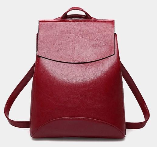 Женская сумка-рюкзак трансформер Rosso bordo