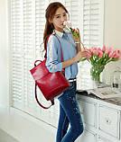 Женская сумка-рюкзак трансформер Rosso bordo, фото 3