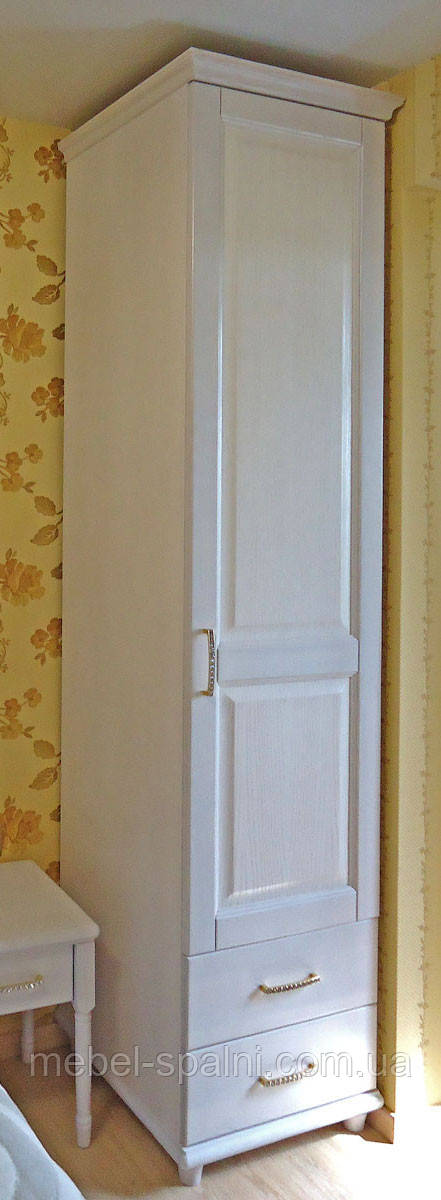 "Шкаф деревянный белый ""Соло-2"" sh1.2"