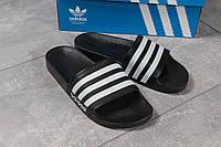 Шлепанцы мужские 16281 ► Adidas, черные ✅SALE! 46% [ 41 43 ] ► (41-26,5см)