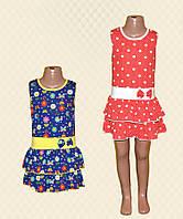 Платье для девочки СКАРЛЕТ кулир