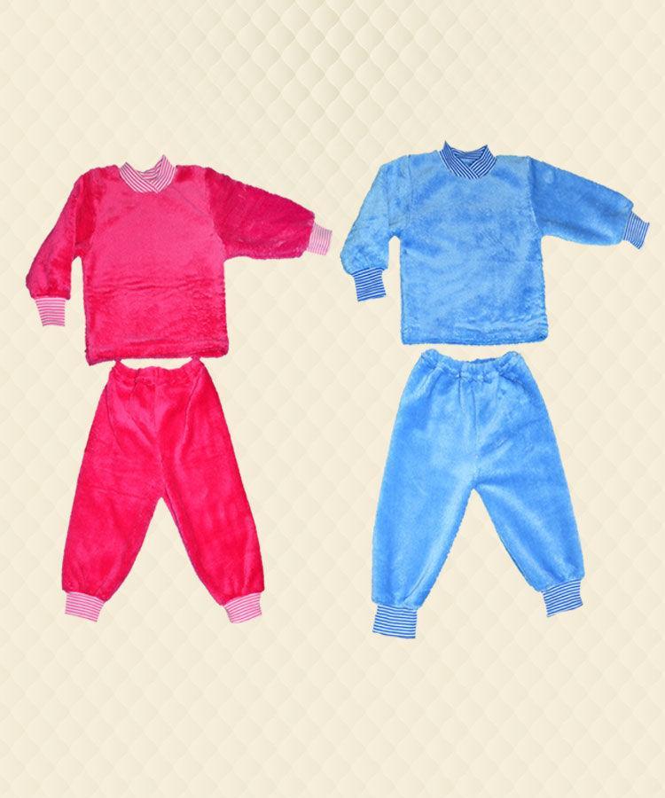 Пижама на манжете однотон рв. махра