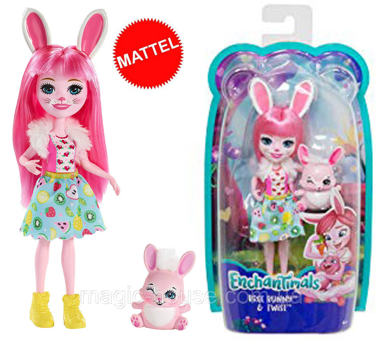Enchantimals Кукла Энчантималс Бри Банни и зайка Твист Bree Bunny Doll
