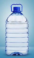 Пластиковая бутылка, 5 л, 36 шт в комплекте с крышкой и ручкой